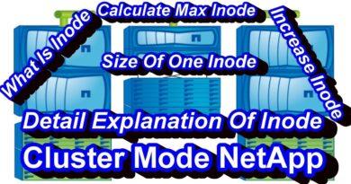 Inodes In NetApp Cluster Mode