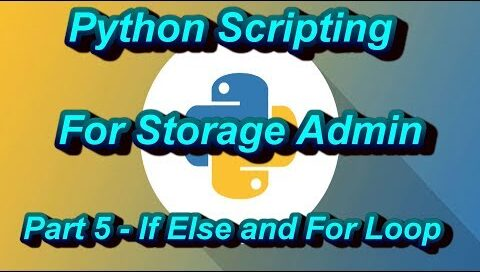 If Else and For Loop In Python Scripting For Storage Admin