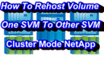 How To Rehost Volume In NetApp Cluster Mode