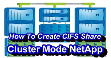 How To Create CIFS Share In NetApp Cluster Mode