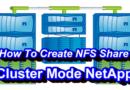 How-ToCreate NFS Share In NetApp Cluster Mode