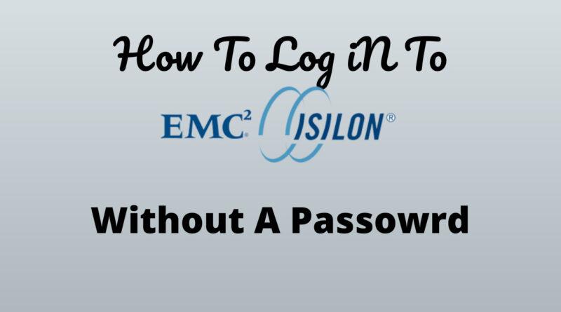 Passwordless Authentication To Isilon