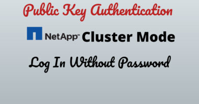 Public Key Authentication In NetApp Cluster Mode