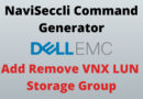 Naviseccli Commands Add Remove VNX LUNs From Storage Group