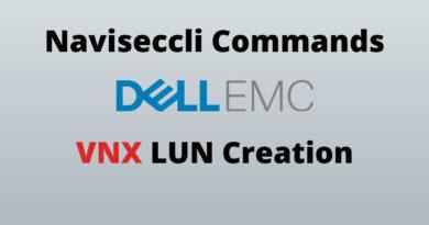 Naviseccli Commands To Create VNX LUN