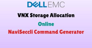 VNX Storage Allocation Naviseccli Commands Generator
