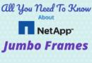 NetApp Jumbo Frames