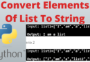 Python Convert All Elements Of List To String